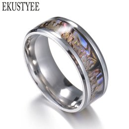 $enCountryForm.capitalKeyWord Canada - whole sale2017 New Vintage 316L Stainless Steel Shell Ring Men Jewelry for Men lord Wedding Band male ring for lovers