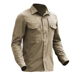 military combat gear 2019 - Outdoors Hiking Shirts Shirts Tactical Gear Quick Dry Military Shirt Men Breathable Army Combat Tactical Shirts Elastic