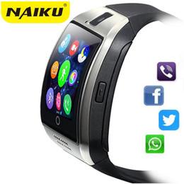 Bluetooth Smart Watch Sim Australia - NAIKU Q18 Bluetooth Smart Watch Relogio Android Smartwatch Phone Call SIM TF Camera for IOS iPhone Samsung HUAWEI VS A1 DZ09