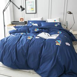 $enCountryForm.capitalKeyWord NZ - Queen size cartoon bedding sets blue 100% cotton comfortable home textile duvet cover set bed sheet pillow case