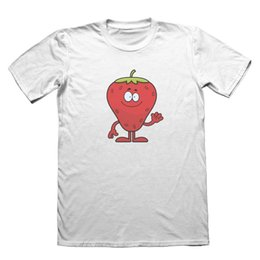Strawberry Tees Canada - Print Tee Shirt Sleeve T Shirt 2018 New Short Strawberry Design O-Neck Short-Sleeve Mens T Shirts