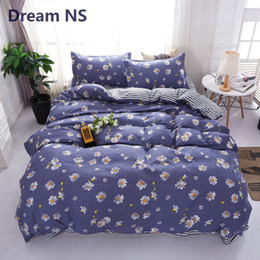 elegant queen size bedding sets 2019 - AHSNME Daisy Quilt Cover Sets Elegant Floral Bedding Set Soft Fabric Duvet Cover Euro Size King Queen Adults Jogo de Cam