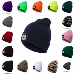 Man hats types online shopping - LED Light Hat Winter Warm button battery  type Beanies Elasticity 8156a85f5f9e