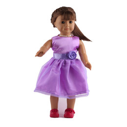 "Chinese  Fleta New lilac Yarn skirt fit 18"" american girl Doll or 43cm born baby doll accessories b78 manufacturers"
