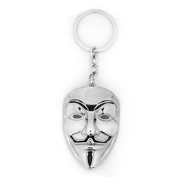 China New Design mask keychain ANONYMOUS GUY Mask MetalCar Key Chain Key Ring Bag pendant For Man Women Gift #17102 supplier wholesale new design keychain suppliers