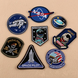 Double siDeD printing clothing online shopping - Embroidery Cloth Paste Astronaut Air Force Diver Fine Quality Diy Patches Pastes Clothes Badge Patch Sew Iron Sewing Supplies dk gg