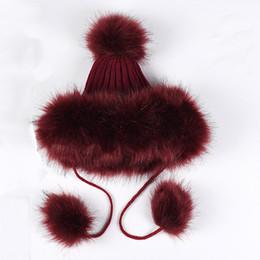 e4bf3b3c153ee Simulation fur hat Men and women thick warm imitation fox fur ball cap snow  skiing caps winter hats