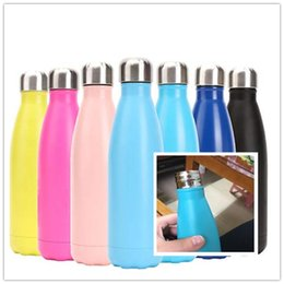 cold steel water bottle Australia - Creative Outdoor Sports Water Bottle 17 Oz Stainless Steel Water Bottles Bowling Cup Cola Shaped Bottle Hot And Cold Vacuum Insulation Cup