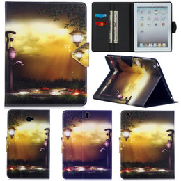 $enCountryForm.capitalKeyWord Australia - Fashion Street Light Painting Wallet PU Leather Stand Flip Case for Apple iPad 2 3 4 Bag for iPad Air 2