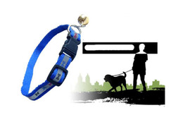small dog collar charms NZ - Small dog cat Nylon Dog Puppy Cat Collar Breakaway Adjustable Cats Collars with charm Bell and printing Bone Reflector Dog collar width1.0cm