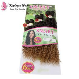 Smart Hair NZ - SMART Synthetic Sew in hair weft Jerry Curl Afro Kinky Curly Freetress Crochet Marley Twist braiding for full head