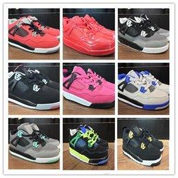6b73b8b3 8 Fotos Compra Online Zapatos azules para niños-Nuevos zapatos de  baloncesto para niños 4 niños zapatillas