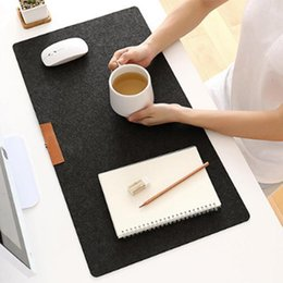 Laptop Cushion Australia - 700*330mm Large Office Computer Desk Mat Modern Table Keyboard Mouse Pad Wool Felt Laptop Cushion Desk Mat Gamer Mousepad