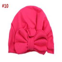 baby pullover NZ - 2018New Europe and America baby products baby bow knotted pullover hat Indian hat children hat
