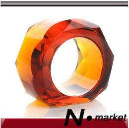 Diamond Napkin Holders Australia - Factory Direct Sale Free Shipping Star Anise Transparent Coffee Diamond Napkin Ring For Hotel Wedding Round Napkin Holders