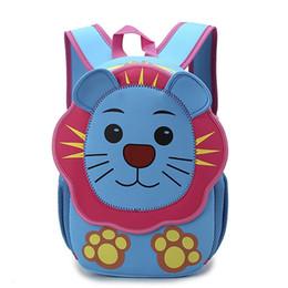 $enCountryForm.capitalKeyWord Canada - 3D New Cute Hot Lion Kids Toddler Softback Waterproof School bag Children Kindergarten Boys Girl Gifts Primary School Backpacks