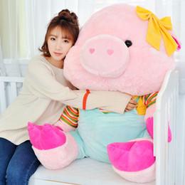 $enCountryForm.capitalKeyWord NZ - Dorimytrader Kawaii Soft Cartoon Fat Pig Plush Toy Large Stuffed Lovely Anime Pink Pigs Doll Pillow for Girls Gift 70cm 90cm DY50198