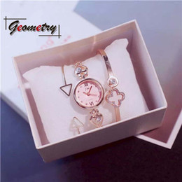 Girls Birthday Girlfriend Fashion Watches Gifts Set Valentine Day Gift Fragrance Romantic Festival Heart Bangle 2018 New Product
