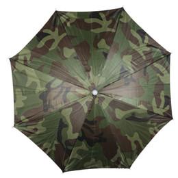 427e0568f1a Camouflage Foldable Headwear Sun Umbrella Fishing Hiking Beach Camping  Headwear Cap Head Hats Outdoor Sport Umbrella Hat Cap