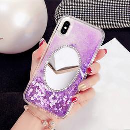 Fancy Rhinestone mirror heart liquid quicksand phone case For OPPO A31 A33  A37 A53 A57 A59 A71 A73 A77 A79 A83 F3 F7 F9 acb343cba19f