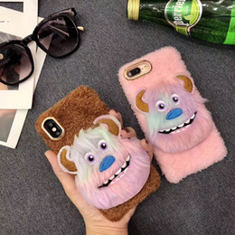 $enCountryForm.capitalKeyWord NZ - For iphone Cover Cartoon animal plush phone case for iphone 6 7 8 X XS XR XS for oppo vivo