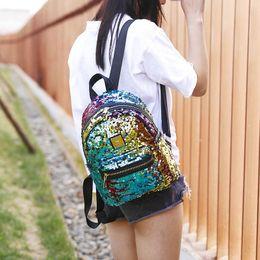 $enCountryForm.capitalKeyWord Canada - SINTIR Fashion Colorful Bling Sequins Leather Women Backpack SchoolBag Designer Female School Backpack Bag for Teenage Girl 2018