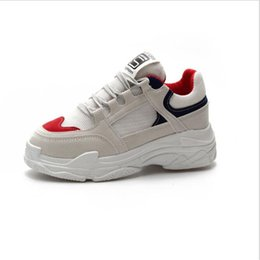 Size35-40 2018 New Fashion Autumn Women Shoes Ladies Casual Shoes High Platform  Female Sport Gray White Bling Totem Sneakers ed670b9ca085