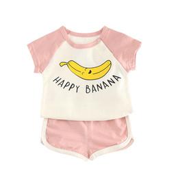 China Baby Boys Clothing Sets Banana Tee Sports Shorts 2Pcs Sets Kids Clothes 2018 Summer Children Clothing Girls Costume toddler cheap banana baby clothing suppliers