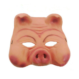 $enCountryForm.capitalKeyWord UK - Pig Mask Horror Comedy Face Mask Masquerade Latex Half Face Masks For Women Men New Year Party Decoration