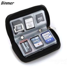 mmc slot card 2019 - Micro SD MMC CF Memory Card Carrying Case Bag Holder 20 Slots Black cheap mmc slot card
