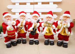 paper stuffing 2018 - Santa Claus with music Christmas saxophone electric Santa Christmas gifts daily cheap paper stuffing