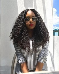$enCountryForm.capitalKeyWord NZ - 100% unprocessed new fashion pure virgin human hair natural color kinky curly long full lace top wig for sale