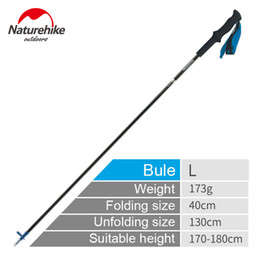 $enCountryForm.capitalKeyWord NZ - 1 Pcs Naturehike Portable Collapsible Carbon Fiber s Quick Lock Compact Folding Walking Stick Tourism Trail Running