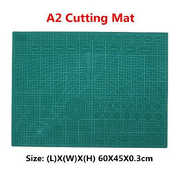 Paper Glass Printing NZ - A2 PVC Non Slip Pad Double Printed Self Healing Cutting Mat Craft Quilting Scrapbooking Board Patchwork Fabric Paper Craft Tools