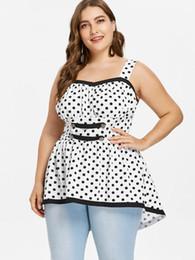 Kenancy Plus Size Empire Waist Polka Dot Tank Top 3e16e315bd68