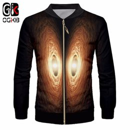 Jacket galaxy man online shopping - OGKB Men s Casual Jackets Graphic Print Galaxy Space d Zip Jacket Coats Male Stand Collar Slim Fit Outwears Jumpers Dropship