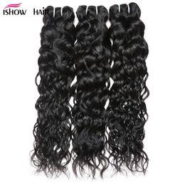 Discount cheap water wave weave - 8-28inch Brazilian Water Wave Hair Bundles 3 4 5Pcs Wholesale Cheap Brazilian Hair Weave Bundles Free Shipping