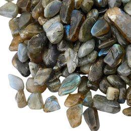 Crystal Chips NZ - 100g Labradorite Stone Quartz Gravel assemble crystal Decorate Aquarium Fish Tank Tumbled Crushed Irregular Shaped Chips adorn Healing Rough