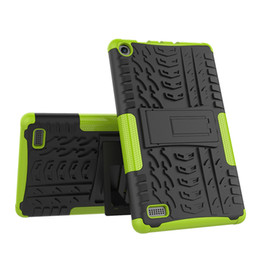 $enCountryForm.capitalKeyWord UK - Shockproof Back Rugged Hybrid Case Cover with Kickstand for Kindle Fire 7 2015 2017 Kindle Fire HD 8 Tablet +Stylus