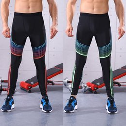 $enCountryForm.capitalKeyWord NZ - Men Running Tights Stretch Leggings Skinny Yoga Pants Jogging Fitness Gym Training athletic Workout Pants Trousers for Male