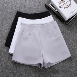 White Shorts NZ - 2018 New Summer hot Fashion New Women Shorts Skirts High Waist Casual Suit Shorts Black White Women Short Pants Ladies Shorts