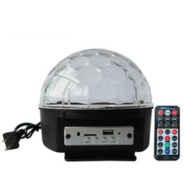 Rotating Disco Ball Light Australia - Bluetooth MP3 Crystal Magic Rotating Ball Remote control 9 colors RGB disco balls lights voice LED magic ball for Parties