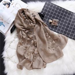 $enCountryForm.capitalKeyWord NZ - Laven women silk polyester printe flower scarf muslim hijab wrap floral scarves Muffler scarves shawls 185*70cm 10pcs lot