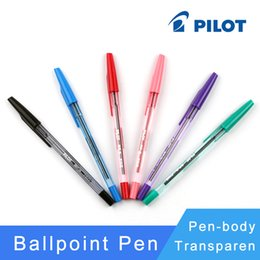 Wholesale Japan Pilot BP S F Woodpecker Ballpoint Pens Ball Point Pen transparent plastic mm Office School Supplies