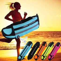 Textile Waterproofing Australia - Waterproof Running Sport Hiking Belt Bum Waist Pouch Fanny Pack Zip Bag for iPhone Samsung Phones with Opp Bag