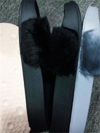 Home plusH slippers online shopping - QW1Puma Rihanna Fur Leadcat Fenty Slide Slippers Women Men House Winter Slipper Home Shoes Woman Warm Slippers hausschuhe Bag