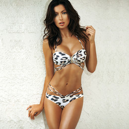 46f3d579bb6 REAL PHOTO 2019 Hot Sell Swimsuit Wild Leopard Straps Sexy Two-piece Bikini  Bathing Suit Biquini Beachwear Women's Clothing