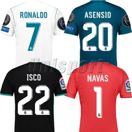 Discount ronaldo jerseys - 2017 18 Real Madrid Champions League Soccer Jerseys Ronaldo Isco Asensio Futbol Shirt Football Camiseta Kit Camisa Magli