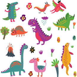 kids dinosaur room decor NZ - 3D Stereo Cartoon Dinosaur Wall Sticker Kids Boys Room Wall Decals Home Decor Kindergarten Nursery Wall Mural Poster Self-adhesive Wallpaper