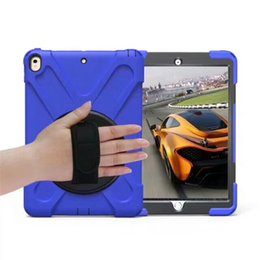 "7.85 tablet pc UK - Heavy Duty Hybrid Shockproof Case TPU Tablet PC & Protector with Stand hand belt for Samsung Tab A 10.1""P580 T550 T580 T585 Tab S2 T810 T820"